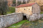 picture of rebuilt  - Old Mill Rebuilt powered by water in Portugal - JPG