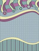 Modern background with circles dots and stripes