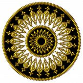 Elegant golden black and white ornament