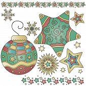 Christmas Graphics With Bauble And Star