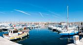 Panorama Of The Marseille Port.