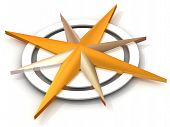 foto of compass rose  - Navigation - JPG