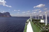 pic of lng  - LNG carrier ship designed for transporting natural gas anchored - JPG