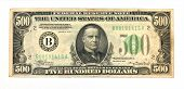 Old Five Hundred Dollar Bill