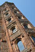 Elizabethan Tower at sharp angle