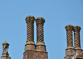 Group of Elizabethan Chimneys