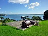 Historische Waffe auf North Head in Devonport