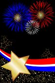 Red White And Blue Fireworks poster