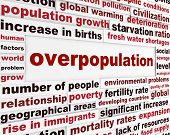 Overpopulation global problem creative poster