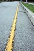 Yellow Line Of The Road.