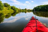 picture of bluegrass  - Fishing from a kayak on a small lake - JPG