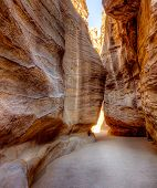 Al-Siq - narrow canyon leading to Petra in Jordan