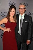 LOS ANGELES - JUL 24:  Mary McDonnell, Tony Denison arrives at TNT's 25th Anniversary Party at the B