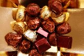 Golden Chocolate Box, Holiday Metaphor