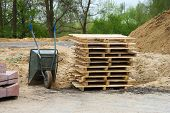 Stack Of Wooden Pallets Barrow