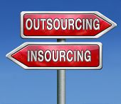 outsourcing or insourcing in house solution or external expert or expertise hiring a freelance indep