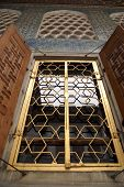 picture of eunuch  - Golden window and wall of Harem in Topkapi palace Istanbul - JPG