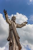 Wooden Jesus Statue At The Hill Of Crosses