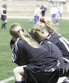 Teen Girls Soccer Benchwarmers