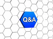 Q&a Sign In Blue Hexagon