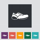 pic of flat-foot  - Shoes flat icon - JPG