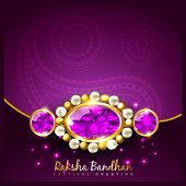 image of pooja  - vector rakhi background with space for your text - JPG