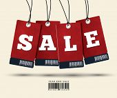 stock photo of paper cut out  - Sale Tags Design - JPG
