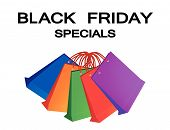 Colorful Paper Shopping Bags For Black Friday Special