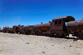 Train Boneyard, Salar De Uyuni, Bolivia, South America