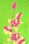Batik - Roses Motif