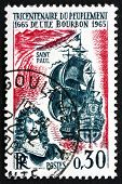Postage Stamp France 1965 Etienne Regnault And Coast Of Reunion