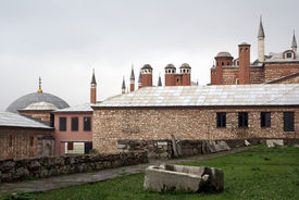 picture of eunuch  - Building of Harem palace in Topkapi Istanbul - JPG