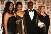 LOS ANGELES - NOVEMBER 2: Sidney Poitier and family at the 2005 BAFTA/LA Cunard Britannia Awards at