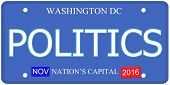 Politics Washington Dc License Plate