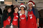 Kate Linder, Mirelly Taylor, Lisa Rinna, Harry Hamlin at the Los Angeles Mission Christmas Eve For T