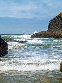 Offshore Lighthouse On The Oregon Coast Nicknamed