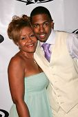 LOS ANGELES - OCTOBER 10: Nick Cannon and his mother Beth Hackett at the birthday party for Nick Can