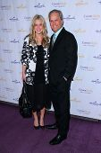 Gregory Harrison and daughter Lily Harrison at the Hallmark Channel and Hallmark Movie Channel Winte