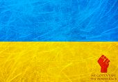 Flag Of Ukraine - We Gotta Take The Power Back Message