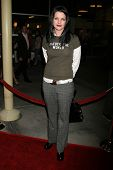 HOLLYWOOD - DECEMBER 14: Pauley Perrette at the party celebrating the winner of Current TV's