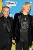LAS VEGAS - DECEMBER 04: Phil Collen and Joe Elliott arriving at the 2006 Billboard Music Awards, MGM Grand Hotel December 04, 2006 in Las Vegas, NV