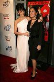 HOLLYWOOD - NOVEMBER 02: Penelope Cruz and Salma Hayek at the AFI Fest 2006 screening of Pedro Almodovar's