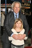 WESTWOOD, CA - DECEMBER 07: Steve Tisch and his daughter at the premiere of