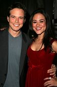 HOLLYWOOD - DECEMBER 07: Scott Wolf and Camille Guaty at Howard Fine's Ball of Fire December 07, 200