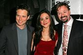 HOLLYWOOD - DECEMBER 07: Scott Wolf, Camille Guaty and Howard Fine at Howard Fine's Ball of Fire Dec