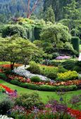 Beautiful Butchart Gardens, Vancouver Island, Canada