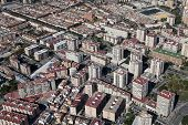 Aerial View Of A Residential Area In Malaga.