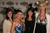 Kimberley Hefner and friends at the Disney Vault 28 Opening, Downtown Disney, Anaheim, California. N