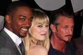 Anthony Mackie, Emma Stone, Sean Penn at the