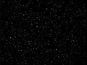 Céu de estrelas à noite